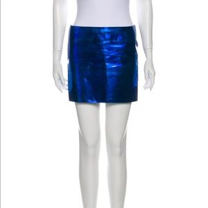 Electric blue authentic  Versace kiki skirt New